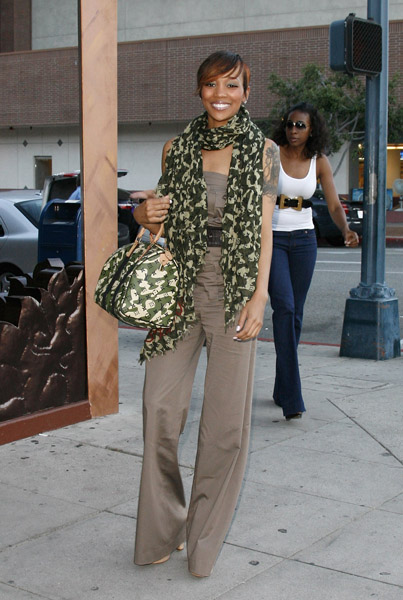 Singer Monica sighting at Crustacean on June 30,  2008 in Beverly Hills, California.