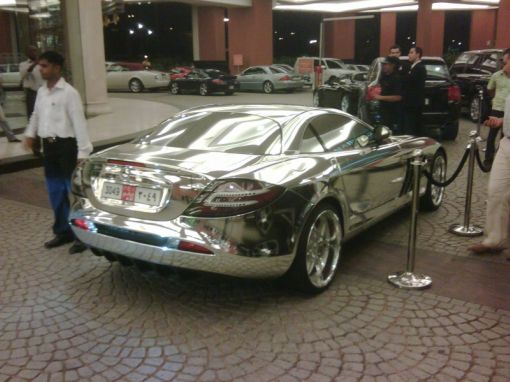 Chromed Out Mercedes-Benz SLR McLaren
