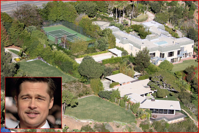 brad pitt jennifer aniston home. brad