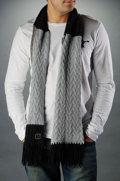 truereligionmenmixedcablescarfblackjpg 100 Cotton Scarves For Men