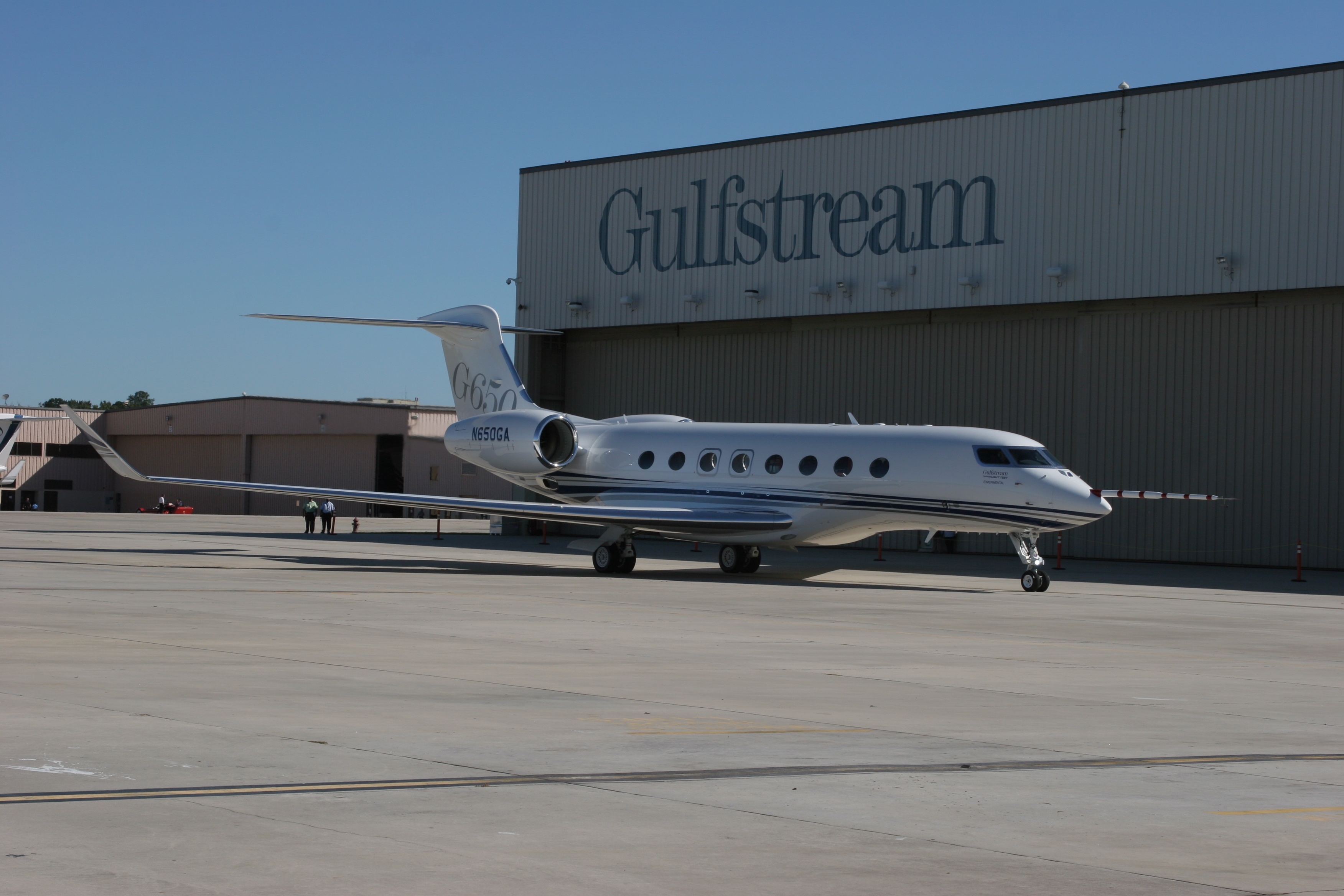 G650 Side View Gulfstream G650 On Its Way To Completion