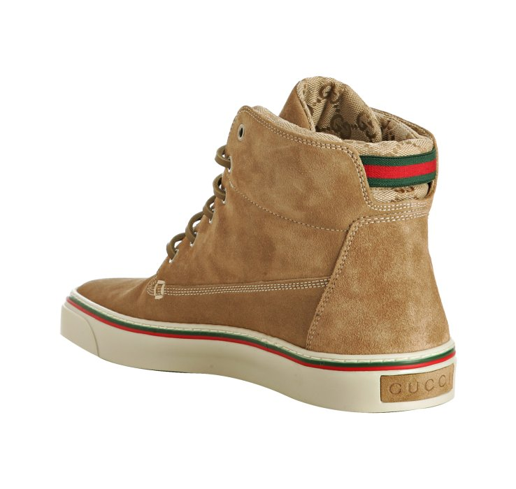 Gucci Caramel Suede High Top