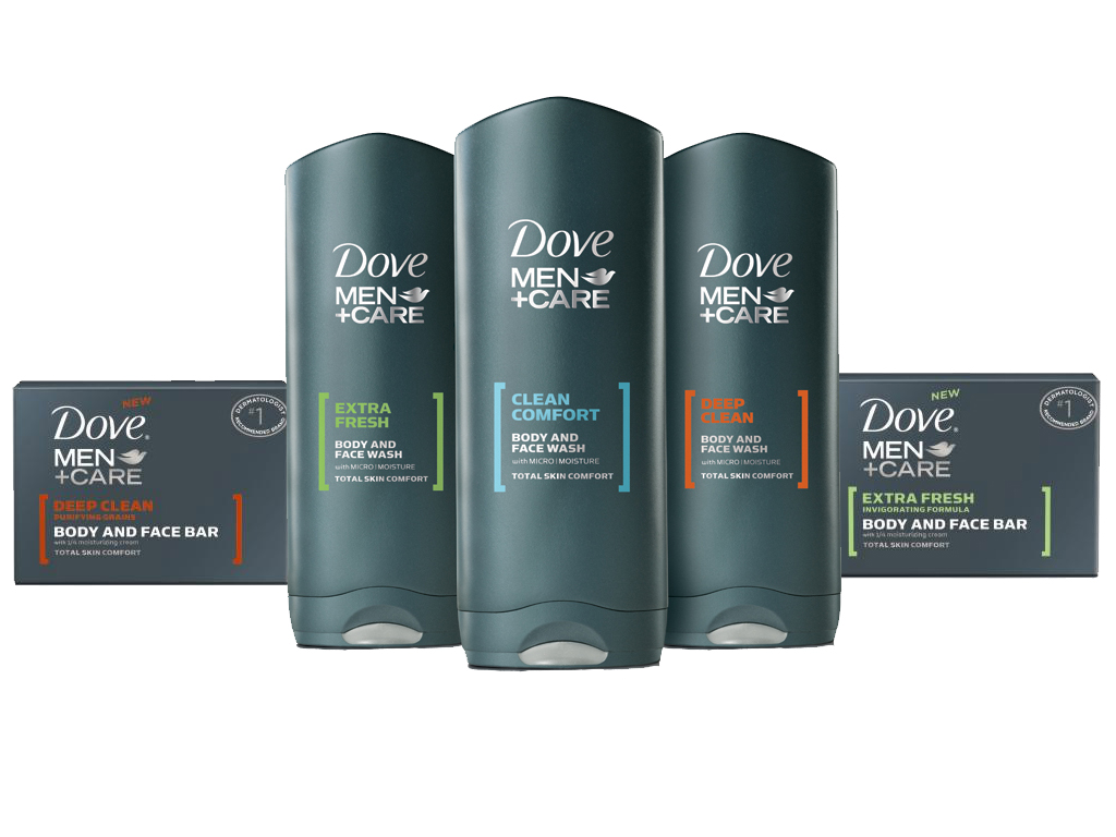 Product Features Dove Men+Care Extra Fresh Body and Face Bar skin versus regular soap.