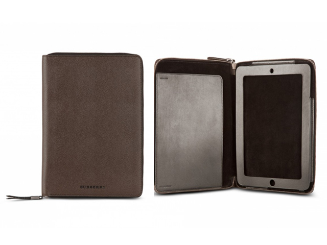 burberrybuffaloleatheripadcase Burberry Grainy Leather iPad Case