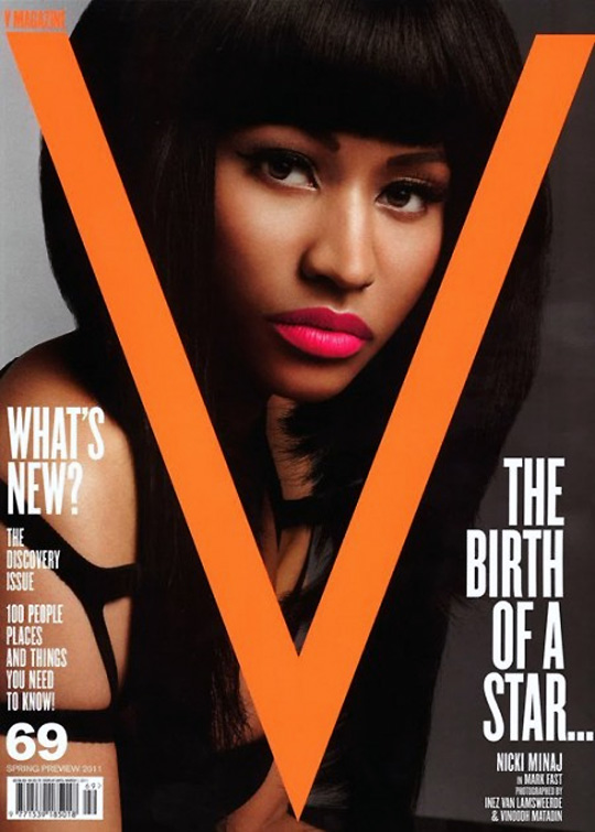 Nicki Minaj covers the lastest issue of V magazine, check out the photo